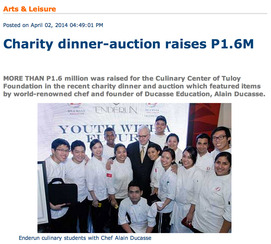 Charity dinner-auction raises P1.6M