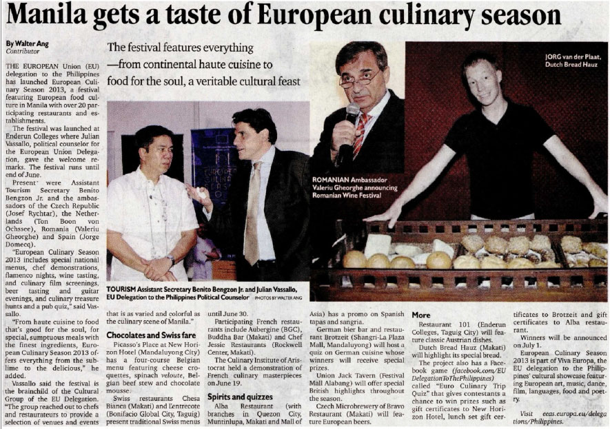 Manila gets a taste of European culinary season