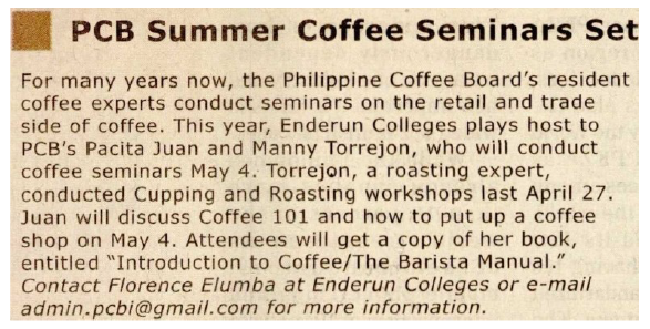 PCB Summer Coffee Seminars Set