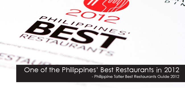 Restaurant 101 is one of the Philippines' Best Restaurants!